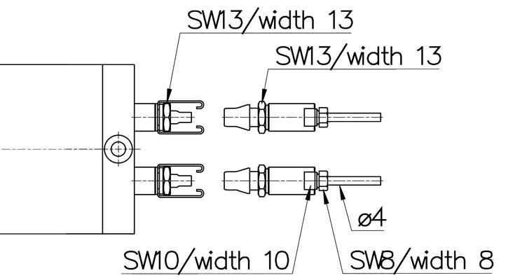 Abmessungen-Schnellkupplung