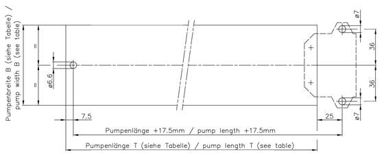 Pumpenbohrung Motor