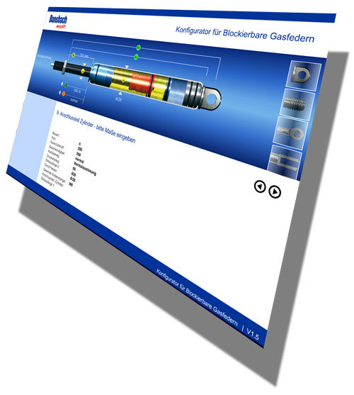 Configurator Lockable Gas springs